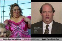 Honey Boo Boo's Mama Totally Looks Like Kevin from The Office... hahaha