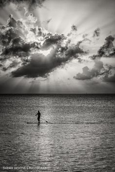 Paddle Board Meads Bay by thierry dehove