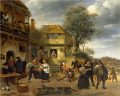 Peasants before an Inn - Jan Steen