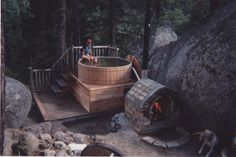 Building a woodburning hot tub – Timber Butte Homestead