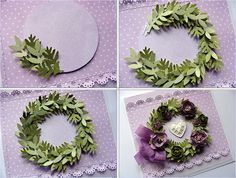 awesome mini wreath making Card Making Tutorials, Card Making Techniques, Making Ideas, Wondrous Wreath, Paper Punch Art, Z Cards, Simple Christmas Cards, Card Making Inspiration, Flower Crafts