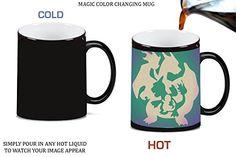 Charmander Charmaleon Charizard Evolution Pokemon Silhouette Magic Color Changing Ceramic Coffee Mug - Pokemon Cups and Pokemon Mugs