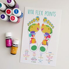 pen & paint: Vita Flex Points [essential oils tips and a free printable] Essential Oils Guide, Essential Oil Uses, Doterra Essential Oils, Young Living Oils, Young Living Essential Oils, Vitaflex Points, Young Living Business, Yl Oils, Natural Oils