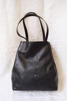 e09a3581e0fa Henry Cuir Tote Bag Black - MAKIE
