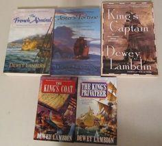 5 Alan Lewrie Naval Adventures Series Dewey Lambdin Lot The Kings Coat Privateer