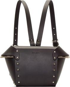 Fleet Ilya Black Winged Zipper Fringe Backpack