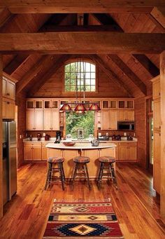 Perfect rustic western kitchen cabin!