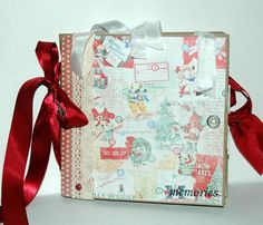 Christmas++Paper+Bag+Album++Scrapbook+++Journal+by+KarenGeddings,+$35.00