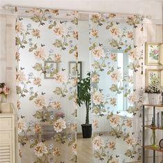 シアーカーテン UVカット フラワープリント レースカーテン(1枚) Sheer Curtains, Girly, Kawaii, Room, House, Home Decor, Women's, Bedroom, Homemade Home Decor