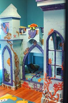 Under the Sea Bedroom - 2 Sets of Twin BunkBeds - 4 Twin Beds Total - Castle By the Sea-Luxury 7BRFamily Home w/Elevator - Hilton Head - rentals