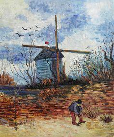 """VG52-Moulin de la Galette-Vincent van Gogh Repro Oil Painting on Canvas 20x24"""""""