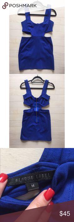 Royal Blue Cut Out Dress Royal Blue cut out Mini. Such an awesome color! blaque label Dresses Mini