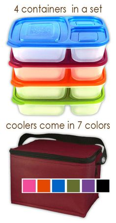 These Easy Lunchboxes have completely simplified lunch-making! Bye-bye plastic baggies and the endless parade of mini Tupperware containers to wash every day. One box in the dishwasher and I'm done :)    Didn't buy the lunch box containers...found a sturdier one from Embark at Target.