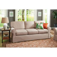 Better Homes and Gardens Slip Cover Pala Sofa Living Room Guest Room Couch New