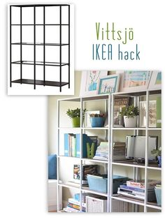 Ikea Vittsjo Shelving, Hacked - Love the open airy shelving. This is what Ikea does best, making inexpensive hack-able pieces like this.