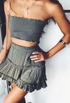 Stunning Summer Outfits With Mini Skirt You Would Love To Try This Summer; Summer Outfits With Mini Skirt; Stunning Summer Outfits With Mini Skirt; Mini Skirt For Summer; Casual Summer Outfits, Spring Outfits, Trendy Outfits, Fashion Outfits, Dress Fashion, Easy Outfits, Womens Fashion, Beachwear Fashion, White Outfits