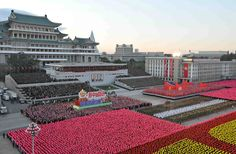 A view of the celebration of the 70th anniversary on October 11, 2015 of the founding of the ruling Workers' Party of Korea, in this undated photo released by North Korea's Korean Central News Agency on October 12, 2015. #