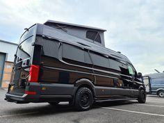 Camping Air Conditioner, Vw Camper Conversions, Black Rhino Wheels, Custom Camper Vans, Mercedes Sprinter Camper, Build A Camper Van, Luxury Van, Adventure Campers, Vw Crafter