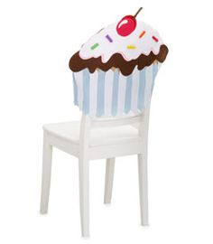 A cute craft idea...felt chair covers for a kids party. You could make any design.