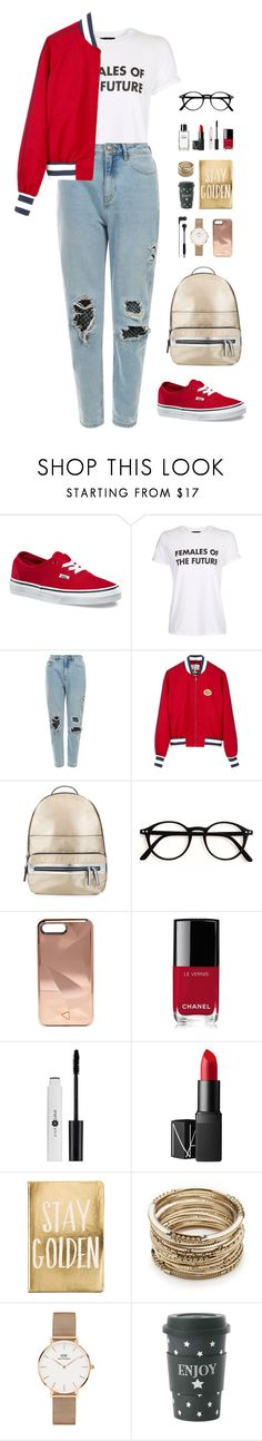 """""""Back to School Fashion"""" by elliejd ❤ liked on Polyvore featuring Vans, Topshop, Tommy Hilfiger, Miss Selfridge, Rebecca Minkoff, Chanel, NARS Cosmetics, Sole Society, Daniel Wellington and Miss Étoile"""