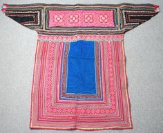 602 Textiles - Hmong fabric / Hmong costume/ Miao fabric / Hmong embroidery panels
