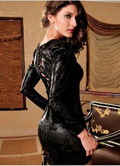 Elastic Elegant Printed round neck dress