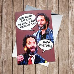 Adrian pimento card, Brooklyn nine nine, funny birthday card Brookly Nine Nine, Brooklyn Nine Nine Funny, Another Year Older, West Art, I Thank You, 19 Days, Funny Birthday Cards, Love Messages, Stupid Funny