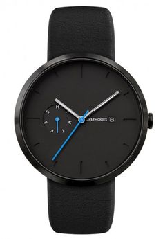 Black minimalist watch by Greyhours. Nice materials and affordable too.
