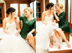 Great photos with the bride and maid of honor.