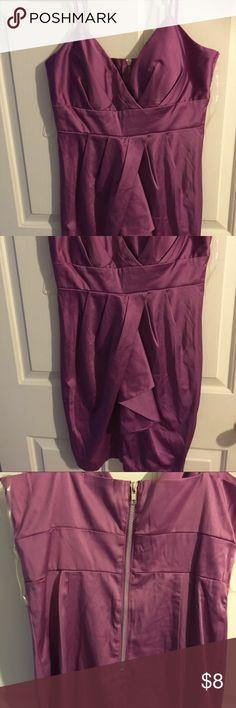 Lavender mini dress Spaghetti strapped silky lavender mini dress My Michelle Dresses