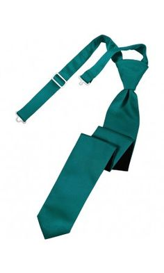Jade Solid Satin Skinny Formal Pre-Tied