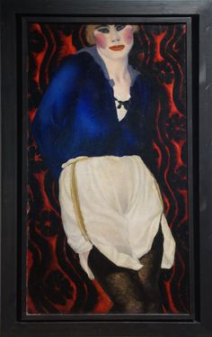 Vladimir Vasilyevich Lebedev (1891-1967) Kat'ka, 1918, oil on canvas. The Russian museum, St. Petersburg, Ж-11273 Wall Spaces, Russian Art, Sale Items, Oil On Canvas, Oil Paintings