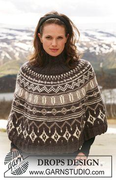 Drops 116-20, Poncho in Alaska with Norwegian pattern