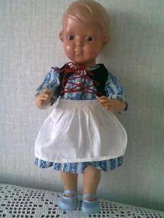 Schildpad pop 35cm inge celluloid , heel 1935, bolle buik haar orginele jurkje graag naar waarde bieden op mp of mail,