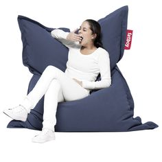 The Fatboy The Original Special Bean Bag is a classic addition to any lounging area. Seriously, everyone loves a bean bag - they are greatest places. Kane Chairs, Huge Bean Bag Chair, Inflatable Furniture, Cosy Outfit, Floor Protectors For Chairs, Contemporary Living Room Furniture, Restaurant Chairs For Sale, Wedding Chairs, Upholstered Chairs