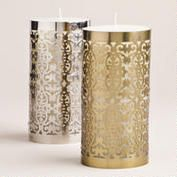 Large Caged Christmas Candles, Set of 2 @Jen McNutt Bloom