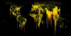 Population Density, Mapped As Dripping Ooze | Co.Design | business + design