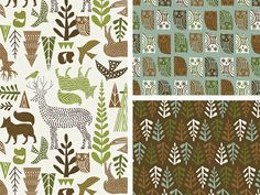 Forest Folklore Collection by Michael Mullan, via Behance