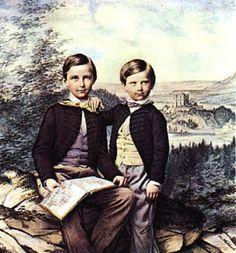 Kronprinz Ludwig und sein Bruder Prinz Otto von Bayern