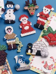 Winter Magnets - like the reindeer and igloo - would make them into ornaments