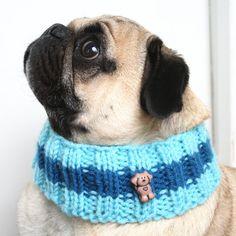 Dog Cowl Knitting Pattern : Dog Neck Warmer, Knit Cowl PDF PATTERN, Small, Medium and Large Sizes Knit ...