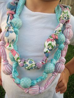 knotted fabric necklaces