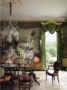 Traditional Dining Room by Richard Keith Langham, Inc. and Lewis Graeber III & Associates in Hattiesburg, Mississippi