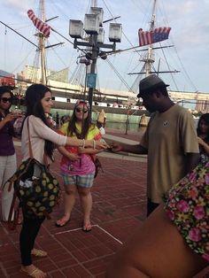 Camila Cabello giving homeless man money