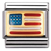 Nomination United States Of America Flag Charm Nomination Charms, Nomination Bracelet, Animal Symbolism, Most Romantic Places, Heart Balloons, Classic Gold, Usa Flag, Link Bracelets, Traveling By Yourself