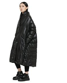 Katuo Black Down Coat Women's Maxi Down Coat Winter Long Coat Cloak-type Jacket KATUO http://www.amazon.com/dp/B00PN0U7D2/ref=cm_sw_r_pi_dp_Comrwb1ZD02VX