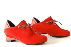 Wierd and Cool.  What to wear them with?? Audley Shoes - Audley Shoes - 16109 - Red - at City Soles