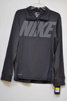 Nike Men's Sweater Training Top 1/4 Zip Gray Long Sleeve size S NWT #Nike #14Zip