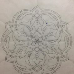 Islamic Motifs, Islamic Art Pattern, Persian Motifs, Pattern Drawing, Pattern Art, Pattern Design, Sketch Design, Design Art, Engraving Art