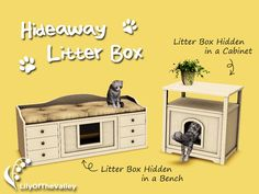 This is what every cat owner desires. Here I bring you two solutions to hide the unsightly cat litter box in a decorative furniture. One is a cabinet with slots for decor objects. The other is a. Sims 4 Mods Clothes, Sims 4 Clothing, The Sims 3 Pets, Sims 3 Cc Finds, Muebles Sims 4 Cc, Casas The Sims 4, Sims House Design, Play Sims, Sims Four